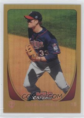 2011 Bowman Chrome Gold Refractor #157 - Justin Morneau /50