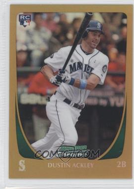 2011 Bowman Chrome Gold Refractor #212 - Dustin Ackley /50
