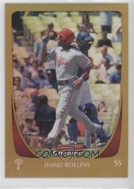 2011 Bowman Chrome Gold Refractor #66 - Jimmy Rollins /50
