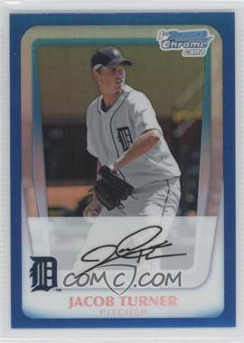 2011 Bowman Chrome Multi-Product Insert [Base] Blue Refractor #BCP185 - Jacob Turner /150