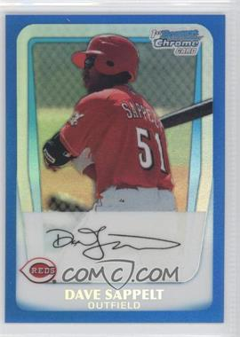 2011 Bowman Chrome Multi-Product Insert [Base] Blue Refractor #BCP37 - Dave Sappelt