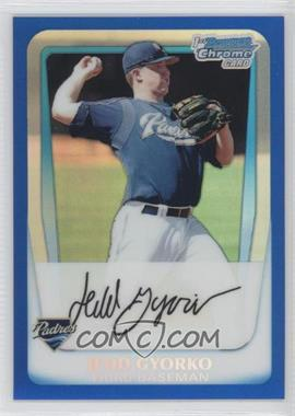 2011 Bowman Chrome Multi-Product Insert [Base] Blue Refractor #BCP83 - Jedd Gyorko /250
