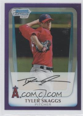 2011 Bowman Chrome Multi-Product Insert [Base] Purple Refractor #BCP194 - Tyler Skaggs /799