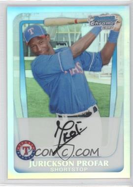 2011 Bowman Chrome Multi-Product Insert [Base] Refractor #BCP82 - Jurickson Profar /799