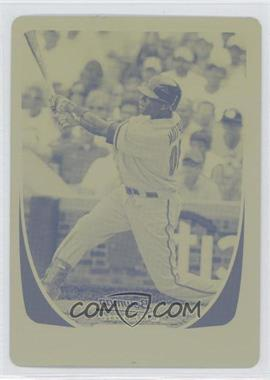 2011 Bowman Chrome Printing Plate Yellow #54 - Justin Upton /1
