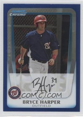 2011 Bowman Chrome Prospects Blue Refractor #BCP111 - Bryce Harper /150