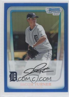 2011 Bowman Chrome Prospects Blue Refractor #BCP185 - Jacob Turner /150