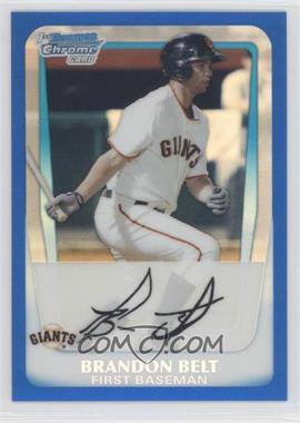 2011 Bowman Chrome Prospects Blue Refractor #BCP93 - Brandon Belt /250