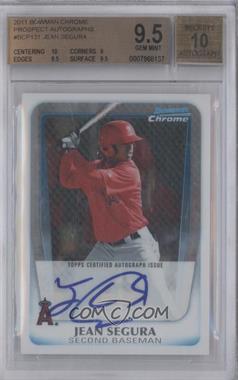 2011 Bowman Chrome Prospects Certified Autographs [Autographed] #BCP131 - Jean Segura [BGS9.5]
