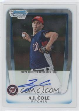 2011 Bowman Chrome Prospects Certified Autographs [Autographed] #BCP160 - A.J. Cole