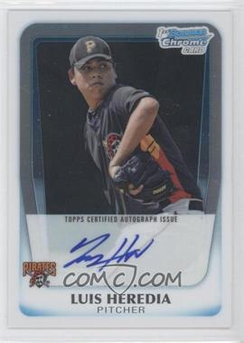 2011 Bowman Chrome Prospects Certified Autographs [Autographed] #BCP171 - Luis Heredia