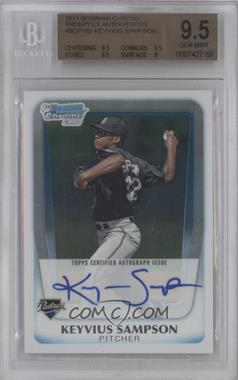2011 Bowman Chrome Prospects Certified Autographs [Autographed] #BCP182 - Keyvius Sampson [BGS 9.5]