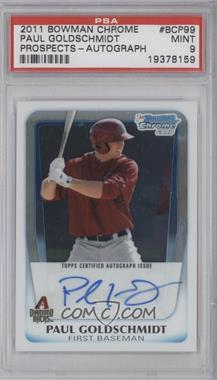 2011 Bowman Chrome Prospects Certified Autographs [Autographed] #BCP99 - Paul Goldschmidt [PSA 9]