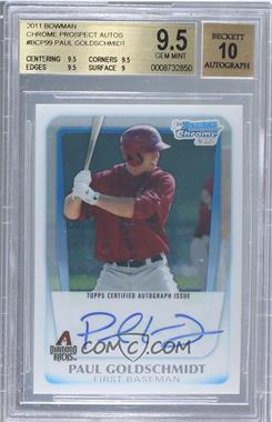 2011 Bowman Chrome Prospects Certified Autographs [Autographed] #BCP99 - Paul Goldschmidt [BGS 9.5]