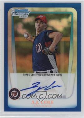 2011 Bowman Chrome Prospects Certified Autographs Blue Refractor [Autographed] #BCP160 - A.J. Cole /150