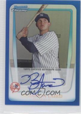 2011 Bowman Chrome Prospects Certified Autographs Blue Refractor [Autographed] #BCP214 - Brandon Laird /150