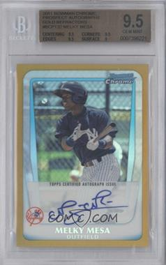 2011 Bowman Chrome Prospects Certified Autographs Gold Refractor #BCP132 - Melky Mesa /50 [BGS 9.5]