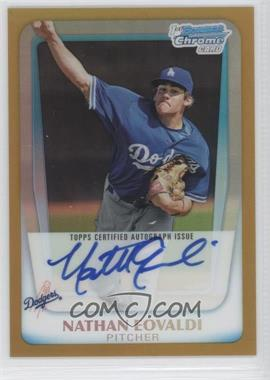 2011 Bowman Chrome Prospects Certified Autographs Gold Refractor #BCP165 - Nathan Eovaldi /50