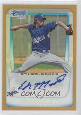 2011 Bowman Chrome Prospects Certified Autographs Gold Refractor #BCP175 - Ethan Martin /50
