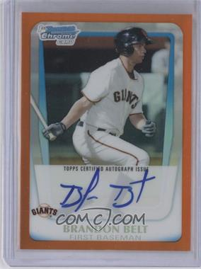 2011 Bowman Chrome Prospects Certified Autographs Orange Refractor #BCP93 - Brandon Belt /25