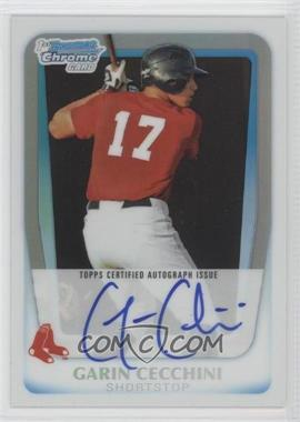 2011 Bowman Chrome Prospects Certified Autographs Refractor [Autographed] #BCP107 - Garin Cecchini /500