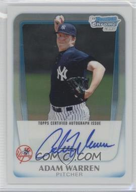2011 Bowman Chrome Prospects Certified Autographs Refractor [Autographed] #BCP111 - Adam Warren /500