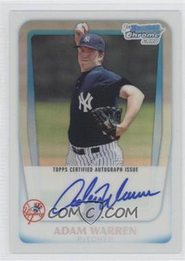 2011 Bowman Chrome Prospects Certified Autographs Refractor [Autographed] #BCP111 - Adam Warren /500