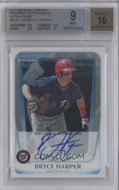 2011 Bowman Chrome Prospects Certified Autographs Refractor [Autographed] #BCP111 - Bryce Harper /500 [BGS 9]