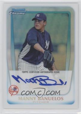 2011 Bowman Chrome Prospects Certified Autographs Refractor [Autographed] #BCP133 - Manny Banuelos /500
