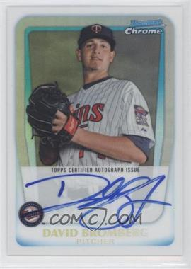 2011 Bowman Chrome Prospects Certified Autographs Refractor [Autographed] #BCP158 - Dave Bromberg /500