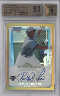 2011 Bowman Chrome Prospects Gold Refractor #BCP101 - Rymer Liriano /50 [BGS 9.5]