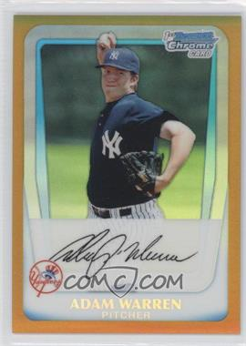 2011 Bowman Chrome Prospects Gold Refractor #BCP48 - Adam Warren /50