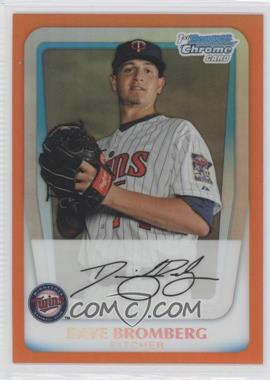 2011 Bowman Chrome Prospects Orange Refractor #BCP158 - Dave Bromberg /25