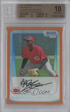 2011 Bowman Chrome Prospects Orange Refractor #BCP209 - Mariekson Gregorius /25 [BGS 10]