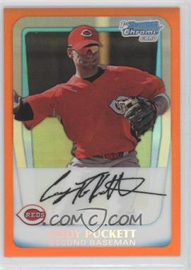 2011 Bowman Chrome Prospects Orange Refractor #BCP64 - Cody Puckett /25