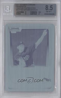 2011 Bowman Chrome Prospects Printing Plate Cyan #BCP165 - Nathan Eovaldi /1 [BGS 8.5]
