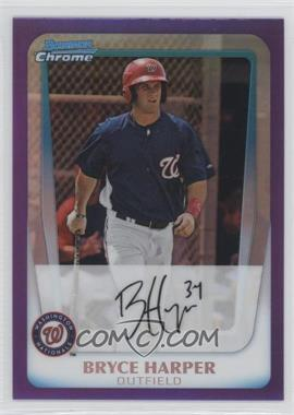 2011 Bowman Chrome Prospects Purple Refractor #BCP111 - Bryce Harper /799