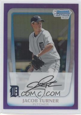 2011 Bowman Chrome Prospects Purple Refractor #BCP185 - Jacob Turner /799