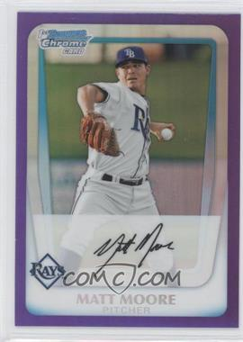 2011 Bowman Chrome Prospects Purple Refractor #BCP220 - Matt Moore /799