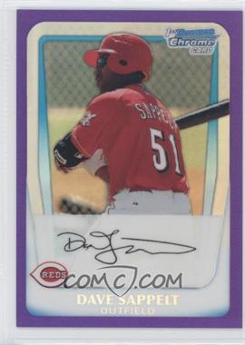 2011 Bowman Chrome Prospects Purple Refractor #BCP37 - Dave Sappelt /700
