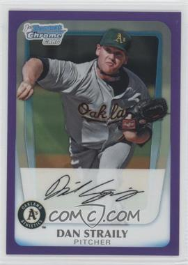 2011 Bowman Chrome Prospects Purple Refractor #BCP53 - Dan Straily /700