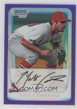 2011 Bowman Chrome Prospects Purple Refractor #BCP66 - Matt Carpenter