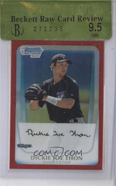 2011 Bowman Chrome Prospects Red Refractor #BCP184 - Dickie Thon /5 [ENCASED]