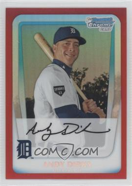 2011 Bowman Chrome Prospects Red Refractor #BCP216 - Andy Dirks /5