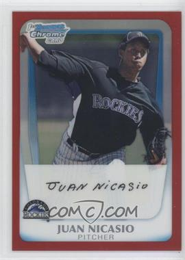 2011 Bowman Chrome Prospects Red Refractor #BCP46 - Juan Nicasio /5