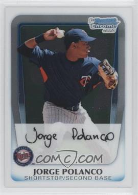 2011 Bowman Chrome Prospects #BCP159 - Jorge Polanco