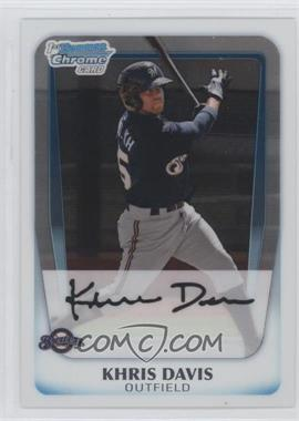 2011 Bowman Chrome Prospects #BCP163 - Khris Davis