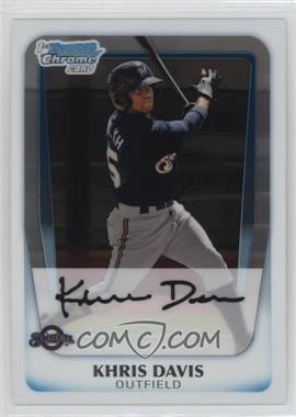 2011 Bowman Chrome Prospects #BCP163 - Khris Davis