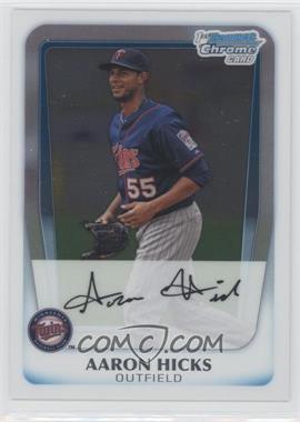 2011 Bowman Chrome Prospects #BCP172 - Aaron Hicks