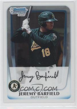 2011 Bowman Chrome Prospects #BCP3 - Jeremy Barfield